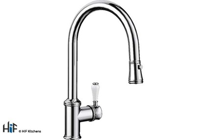 View Blanco Vicus Single Lever Chrome Kitchen Tap 524287 offered by HiF Kitchens