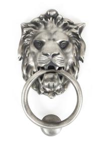 Added Antique Pewter Lion Head Knocker To Basket