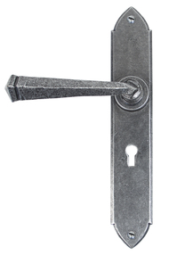 Added Pewter Gothic Lever Lock Set To Basket