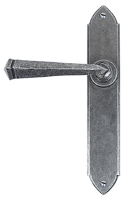 View Pewter Gothic Lever Latch Set offered by HiF Kitchens