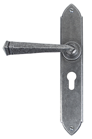 View Pewter Gothic Lever Euro Lock Set offered by HiF Kitchens