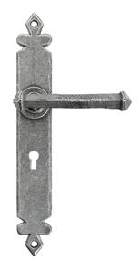Added Pewter Tudor Lever Lock Set To Basket