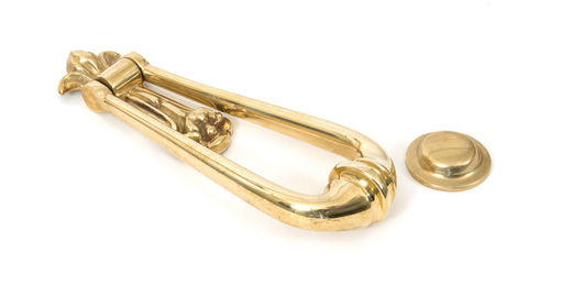 View Polished Brass Loop Door Knocker offered by HiF Kitchens