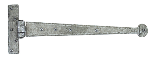Added Pewter 15'' Penny End T Hinge (pair) To Basket