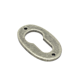 Added Pewter Oval Euro Escutcheon To Basket