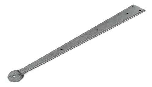 Added Pewter 18'' Penny End Hinge Front (pair) To Basket