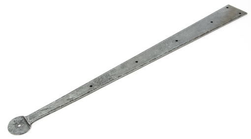 Added Pewter 24'' Penny End Hinge Front (pair) To Basket