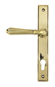 View Aged Brass Hinton Slimline Lever Espag. Lock Set offered by HiF Kitchens