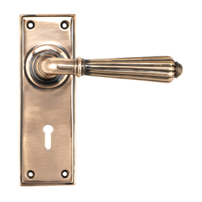 View Polished Bronze Hinton Lever Lock Set offered by HiF Kitchens