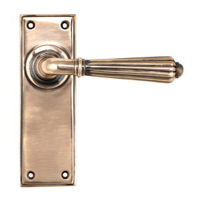 View Polished Bronze Hinton Lever Latch Set offered by HiF Kitchens