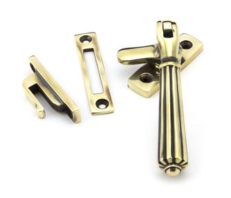 Added Aged Brass Locking Hinton Fastener To Basket