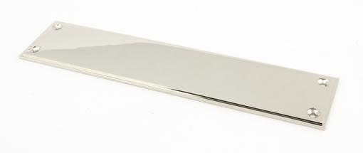 View Polished Nickel 300mm Art Deco Fingerplate offered by HiF Kitchens