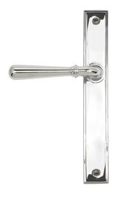 View Polished Chrome Newbury Slimline Lever Latch Set offered by HiF Kitchens