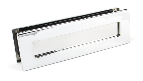 Added Polished Chrome Traditional Letterbox To Basket