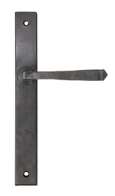 View External Beeswax Avon Slimline Lever Latch Set offered by HiF Kitchens
