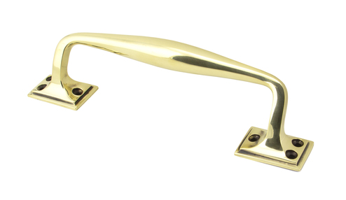 Added Aged Brass 230mm Art Deco Pull Handle To Basket
