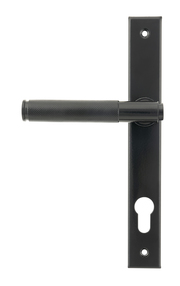 View Black Brompton Slimline Lever Espag. Lock Set offered by HiF Kitchens