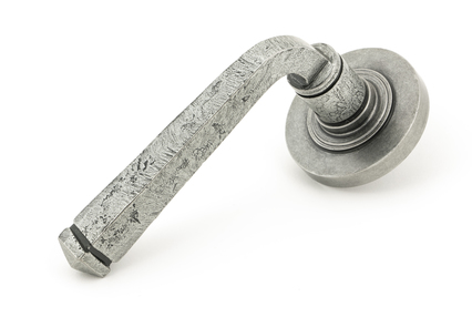 View Pewter Avon Round Lever on Rose Set (Plain) offered by HiF Kitchens