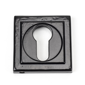 View Black Round Euro Escutcheon (Square) offered by HiF Kitchens
