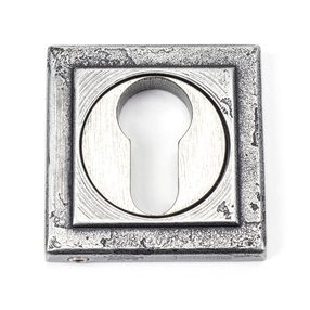 View Pewter Round Euro Escutcheon (Square) offered by HiF Kitchens