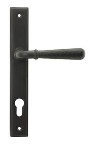 View Aged Bronze Hammered Newbury Slimline Espag. Lock Set offered by HiF Kitchens