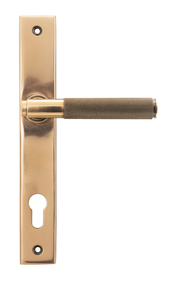 View Polished Bronze Brompton Slimline Espag. Lock Set offered by HiF Kitchens