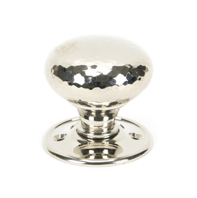 View Polished Nickel Hammered Mushroom Mortice/Rim Knob Set offered by HiF Kitchens