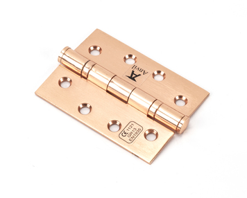 View Polished Bronze 4'' Ball Bearing Butt Hinge (pair) ss offered by HiF Kitchens