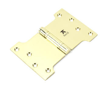 View Polished Brass 4'' x 4'' x 6'' Parliament Hinge (pair) ss offered by HiF Kitchens