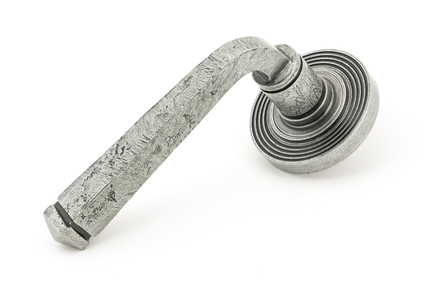 View Pewter Avon Round Lever on Rose Set (Beehive) - Unsprung offered by HiF Kitchens