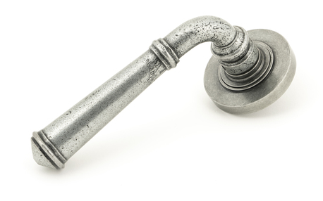 View Pewter Regency Lever on Rose Set (Plain) - Unsprung offered by HiF Kitchens