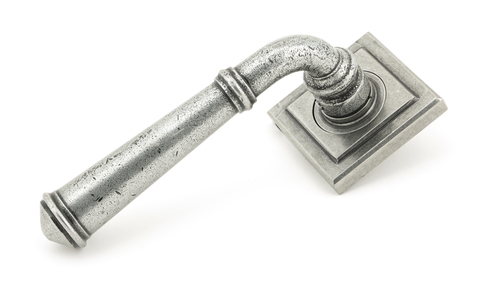 View Pewter Regency Lever on Rose Set (Square) - Unsprung offered by HiF Kitchens