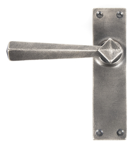 Added Antique Pewter Straight Lever Latch Set To Basket