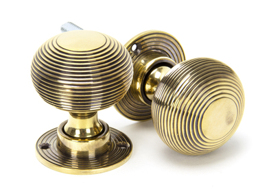 View Aged Brass Beehive Mortice/Rim Knob Set offered by HiF Kitchens