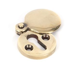 View Aged Brass 30mm Round Escutcheon offered by HiF Kitchens