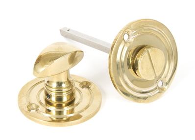 View Polished Brass Round Bathroom Thumbturn offered by HiF Kitchens