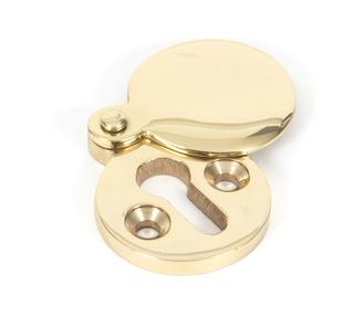 Added Polished Brass 30mm Round Escutcheon To Basket