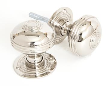 View Polished Nickel 63mm Prestbury Mortice/Rim Knob Set offered by HiF Kitchens