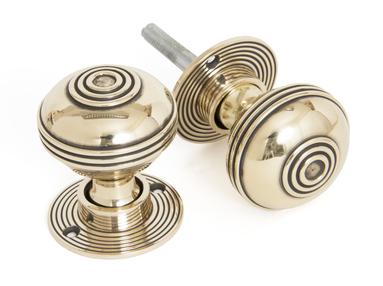 View Aged Brass 50mm Prestbury Mortice/Rim Knob Set offered by HiF Kitchens