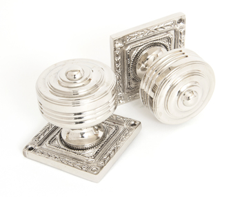 View Polished Nickel Tewkesbury Square Mortice Knob Set offered by HiF Kitchens