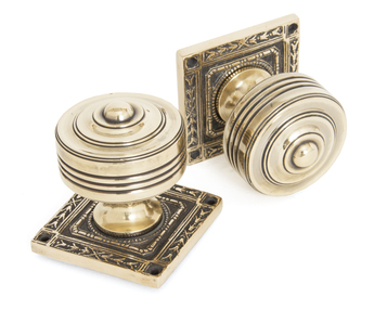 View Aged Brass Tewkesbury Square Mortice Knob Set offered by HiF Kitchens