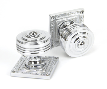 View Polished Chrome Tewkesbury Square Mortice Knob Set offered by HiF Kitchens