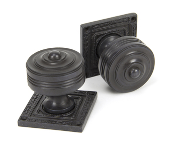 View Aged Bronze Tewkesbury Square Mortice Knob Set offered by HiF Kitchens