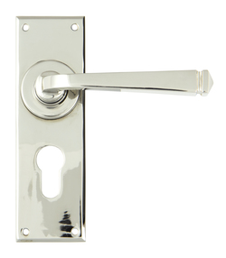 View Polished Nickel Avon Lever Euro Set offered by HiF Kitchens