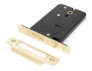 View Polished Brass 6'' Horizontal 5 Lever Sash Lock offered by HiF Kitchens