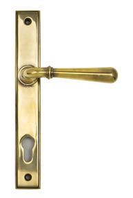 View Aged Brass Newbury Slimline Lever Espag. Lock Set offered by HiF Kitchens