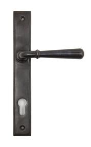 View Aged Bronze Newbury Slimline Lever Espag. Lock Set offered by HiF Kitchens