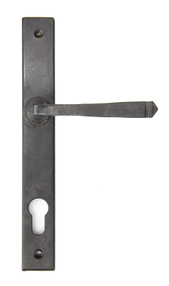 View External Beeswax Avon Slimline Lever Espag. Lock Set offered by HiF Kitchens
