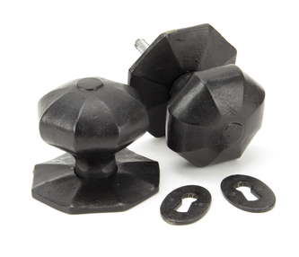 View External Beeswax Large Octagonal Mortice/Rim Knob Set offered by HiF Kitchens