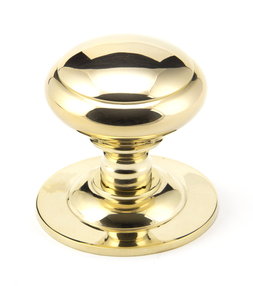 View Polished Brass Round Centre Door Knob offered by HiF Kitchens